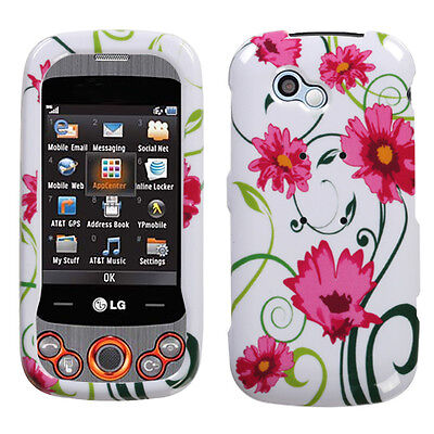 For LG GW370 (Neon II) Lovely Flowers Phone Protector Case Cover