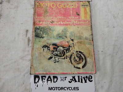 Moto Guzzi  Models 1974 Onwards   Haynes  Workshop Manual