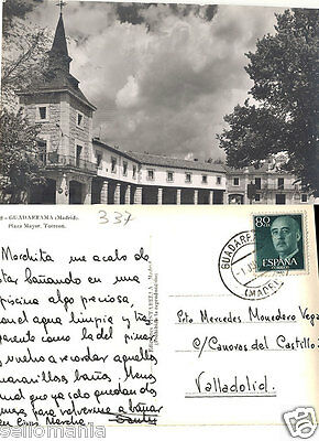 Antigua Postal Guadarrama Plaza Mayor Madrid Old Postcard Postkarte      Cc00238