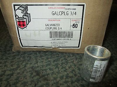 """Robroy Steel Coupling GALCPLG 3/4 Size 3/4"""" Box of 34 New Surplus"""