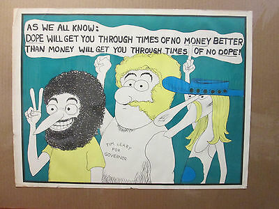 vintage As we all Know: money and dope Poster orig unused 1970's  6016
