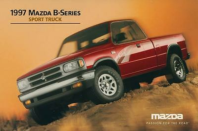 1997 Mazda Sport Pickup Truck ORIGINAL Large Factory Postcard my1589