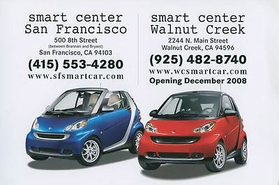 2009 Smart Fortwo Coupe & Convertible ORIGINAL Large Factory Postcard my1642