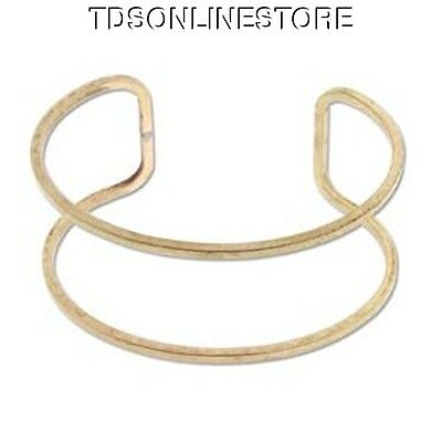1 Inch Open Design Brass Bracelet Cuff for Jewelry Making Etc Package Of 6