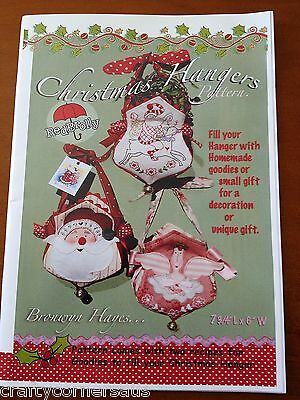 Bronwyn Hayes - Red Brolly - Pattern for 3 Christmas hangers decoration