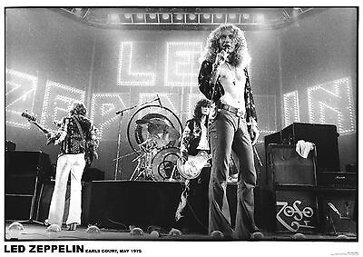 Led Zeppelin Earls Ct May 75 Retro Poster Size 84.1cm x 59.4cm-approx 34''x 24''