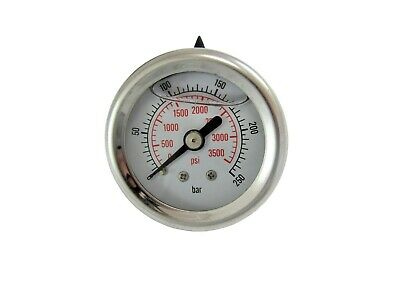 Pressure Washer Pressure Gauge 0-300 Bar 4351 Psi Plastic Body Glycerine Filled