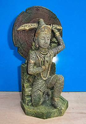Buddha Warrior Thai Statue Aquarium Ornament Fish Tank Bowl Decoration New