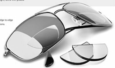 2 pair  Hydrotac Stick on Reading Lens Bifocal Clear Glasses Light Weight Reader