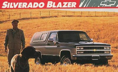 1989 Chevrolet Silverado Blazer Truck ORIGINAL Large Factory Postcard my1706
