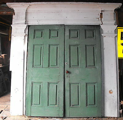 Old Vtg Antique Wood Original Ornate Architectural Salvage Church Door Entryway