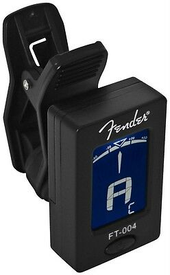 Genuine Fender FT-004 digital clip on chromatic Tuner 009-1160-000 - NEW!