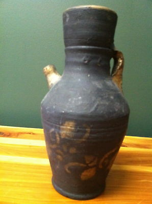 """Hand Made 8"""" Old Ceramic Wine Jug Mint Condition"""