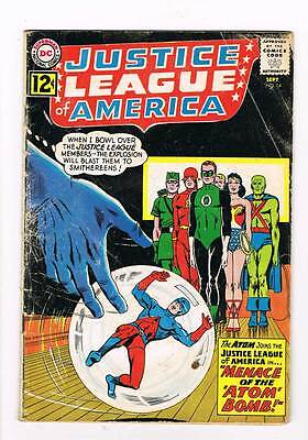 Justice League of America # 14 Menace of the Atom Bomb!! grade - 3.0 DC !
