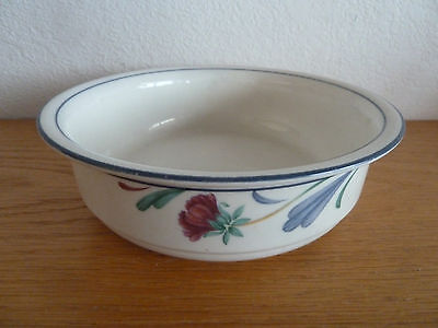 """Poppies on Blue Lenox 1 Cereal / Soup Bowl  6 1/4"""""""
