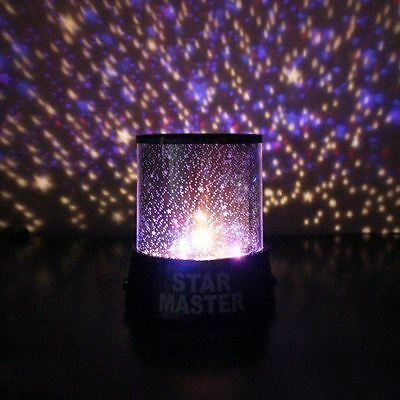 Gift8 Realistic LED Light Star Snow Sky Projection Projector Night Lamp Proje...