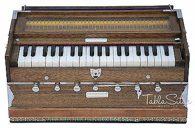 HARMONIUM No.5200w|MAHARAJA|7 STOP|3¼ OCT.|MULTI-BELLOW|WALNUT|BOOK|COUPLER|BDD