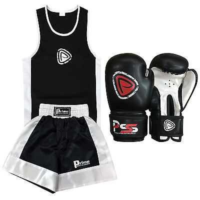 Prime Kids Boxing Sets Top & Short 11-12 Years Training Boxing Gloves 6oz (1001)