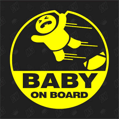 BABY ON BOARD - Auto Tuning Sticker ,Baby an Bord Fun Aufkleber