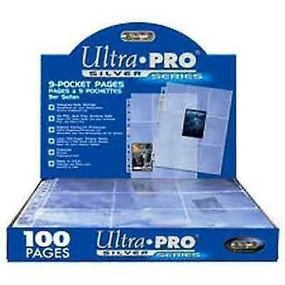Ultra Pro Silver 9 Card Pocket Pages New 30X Sleeves Trading Cards