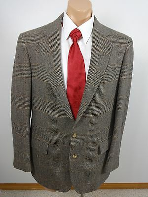 J & F For Nordstrom Mens Gray & Brown Wool Suit Jacket Sport Coat Size 42 R