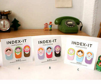 Cute Matryoshka Index Sticky Note Post It Stickers Kawaii Stationery Office Supp