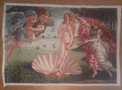 Handmade Embroidery, The Birth of Venus (Botticelli)