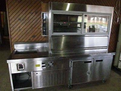 Stainless Steel Refridgerated Buffet Cart Display Case Cooler Catering MAN CAVE