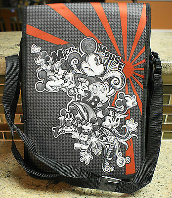 New Disney Parks MICKEY MOUSE Houndstooth / Sketch Art Trading Pin Bag