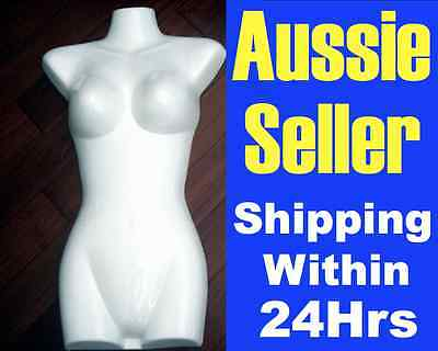 NEW MANNEQUIN Display TORSO Female GLOSSY WHITE