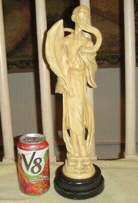 Chinese Or Japanese Carved Resin Statue-Man W/Beard-Face On Bottom-Signed Statue