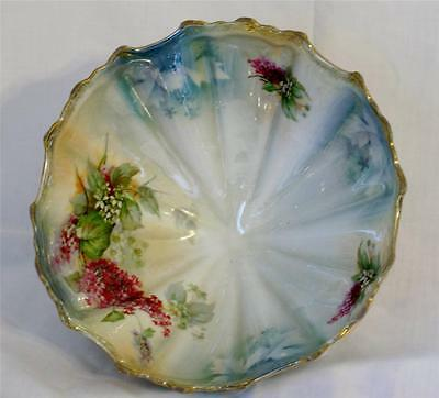 Silesia Footed Bowl....Antique...Lusterware....with gold trim