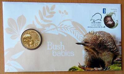 Australian Bush Babies - Echidna - 2013 Pnc Stamp And $1 Coin Covers