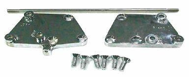 "Zodiac 056263 Forward Control Extension Kit 3"" CHROME Suit FXST Softail 00-06"