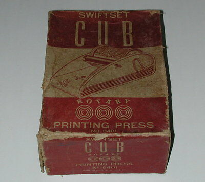 Swiftset Cub Rotary Printing Press With Instructions USA