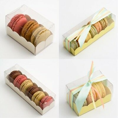 Macaron Boxes Clear With Insert Large,Medium & Small Available (macaroon)