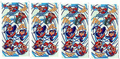 4 sheets Looney Tunes TAZ Tazmanian Devil Stickers! Extreme Sports
