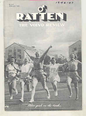 1945 Volvo Ratten Brochure PV60 PV444 WWII Military Truck Bus Tractor wu5805