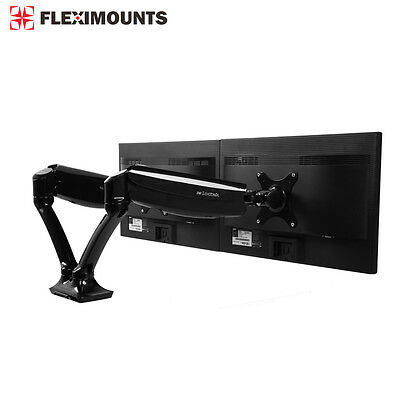 "Gas Spring 10""-27"" Monitor Mount LCD Dual arm Desk Desktop Holder Stand M06"