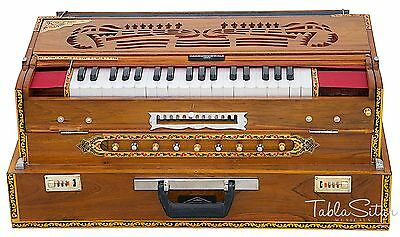 HARMONIUM No.6400tn|CALCUTTA|13 SCALE CHANGER|MAHARAJA|VAJA|4 REEDTEAK|BAG|BBH