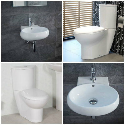 Toilet Basin Bathroom Suite Cloakroom Ceramic White Wall Hung Mounted Sink 73801