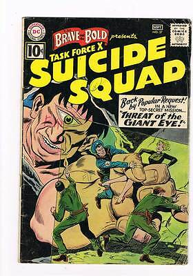 Brave & Bold # 37  Task Force X  Suicide Squad  grade 4.5 movie scarce book !!