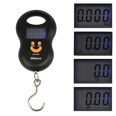 50kg/10g Pocket LCD Digital Hanging Hook Travel Luggage Weight Electronic Scale