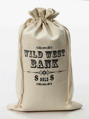 Large Cowboy Money Bag Swag Wild West Western Bank Robber Fancy Dress