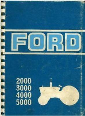 Ford Tractor 2000, 3000, 4000, 5000 Operators Manual - 1969