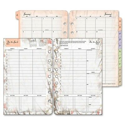 """2015 Franklin Covey Blooms Planner Refill - Daily, Weekly - 5.5"""" x 8.5"""" - 1 Year"""