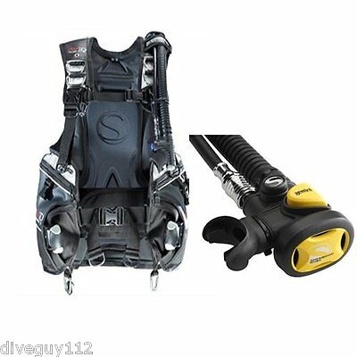 Sherwood Avid CQR3 BCD w/Gemini Octo Scuba Diving Buoyancy LG