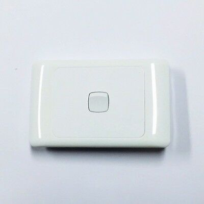 1 Gang 2 Way Wall Single double Light Switch White New 10 A amp X