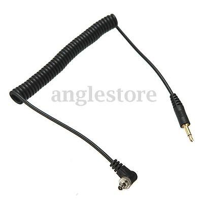 3.5mm to Male FLASH PC Sync Plug Cable Cord with Screw Lock US
