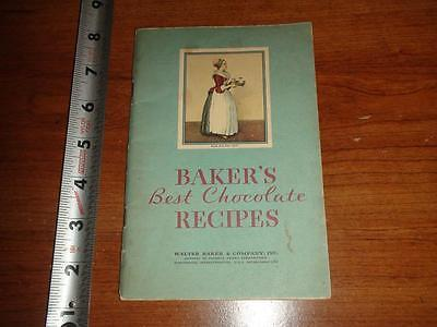 BX163 Vintage Undated Walter Baker Co Bakers Chocolate Recipe Booklet